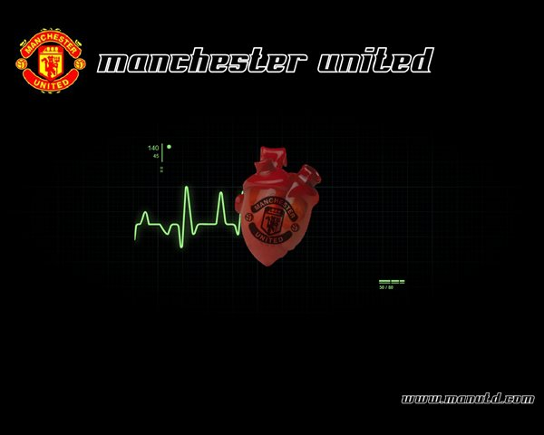Animated screensaver about Manchester United